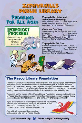 Zephyrhills Library Spring 2010 Schedule