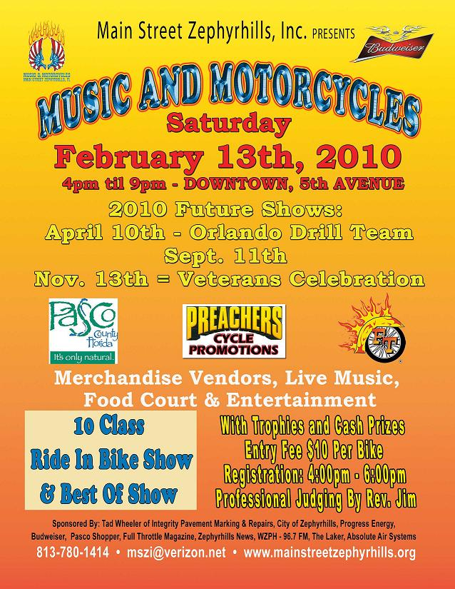 Music and Motorcycles Feb. 13, 2010