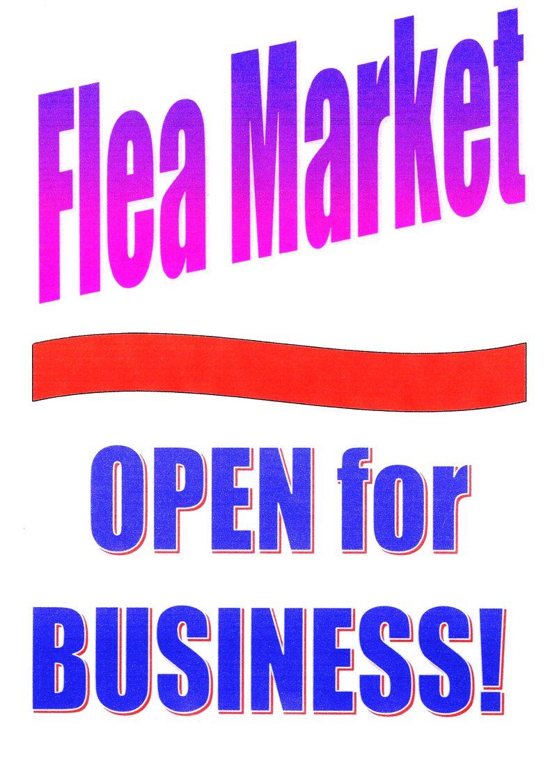Flea Market Sign-JTE