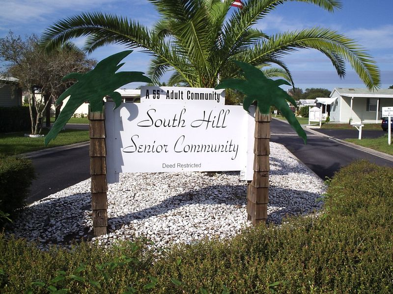 Welcome To South Hill Mobile Home Subdivision In Zephyrhills Florida