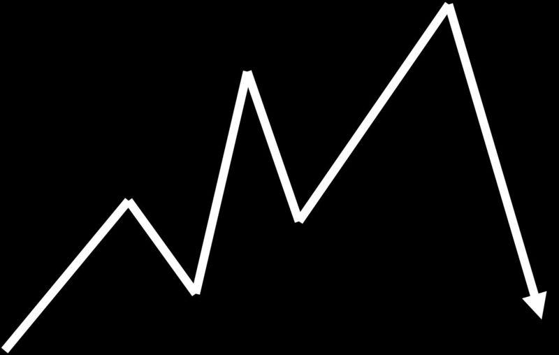 Graph Arrow  Down Trend - JTE