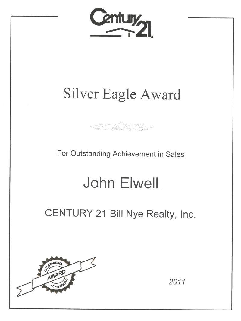 Silver Eagle Award 20110001