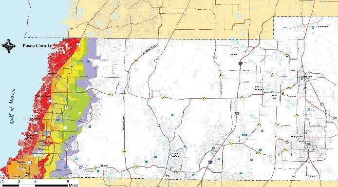 Evacuation Map for Pasco County