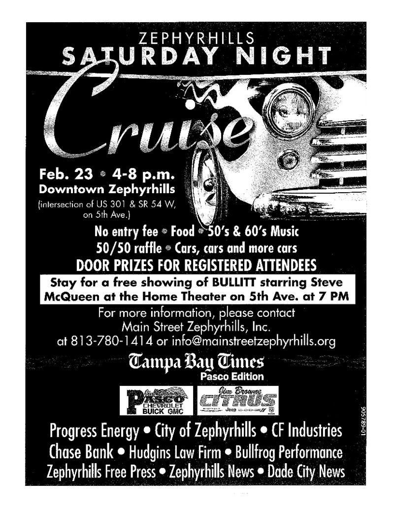 Saturday Night Cruise on Feb. 23, 2013