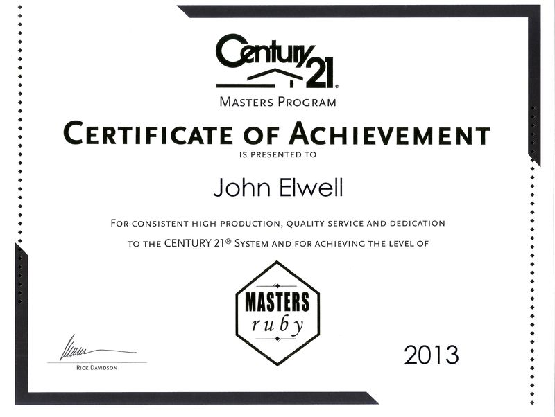 Ruby Masters Award from Century 21