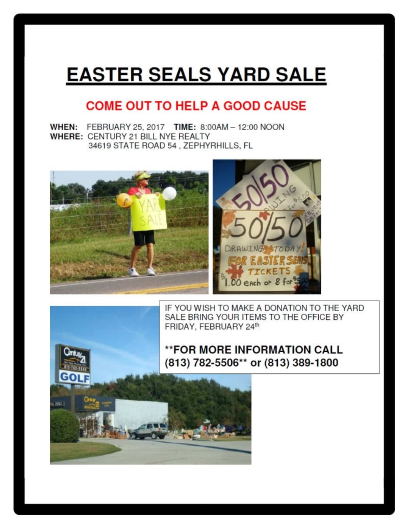 Easter Seals Yard Sale 2017