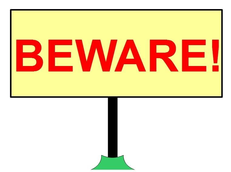 Beware Sign - JTE